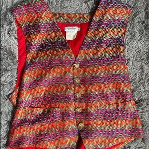 Vintage Yves Saint Laurent Multicolor Vest